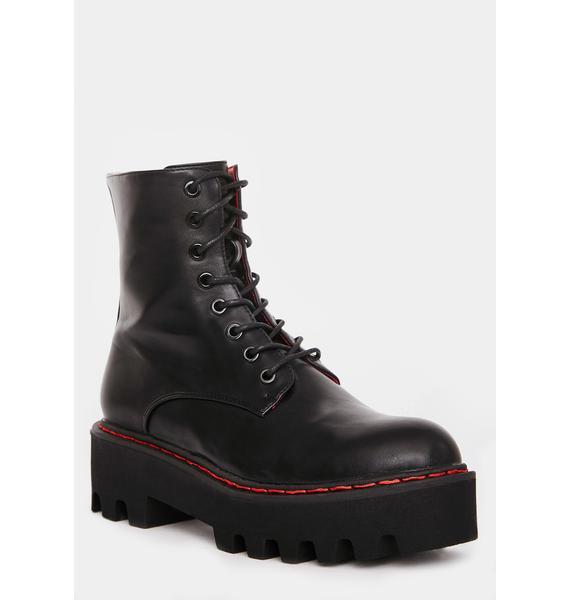 Lamoda Unforgiven Chunky Combat Boots