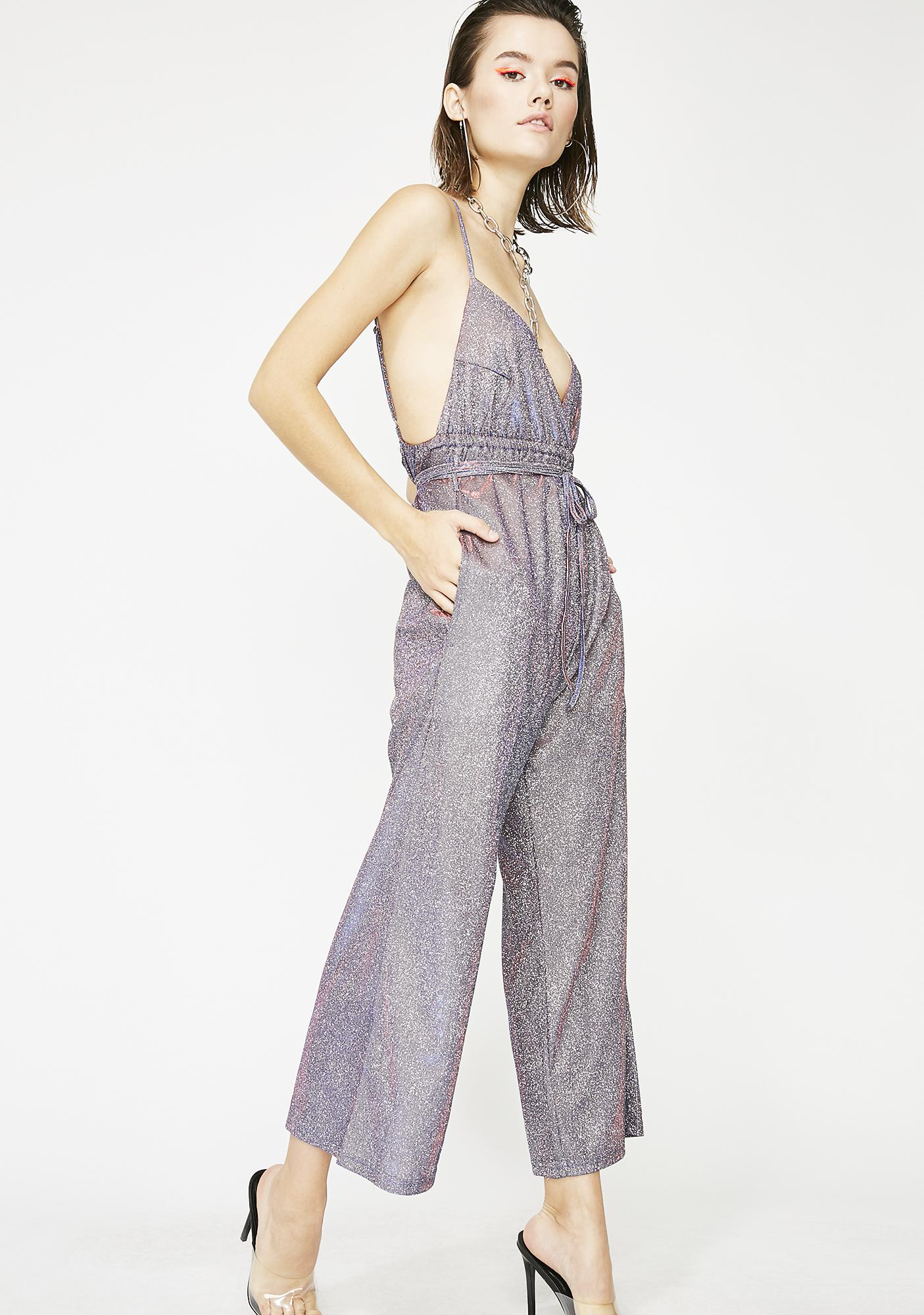 Bow Down Bishes Glitter Jumpsuit