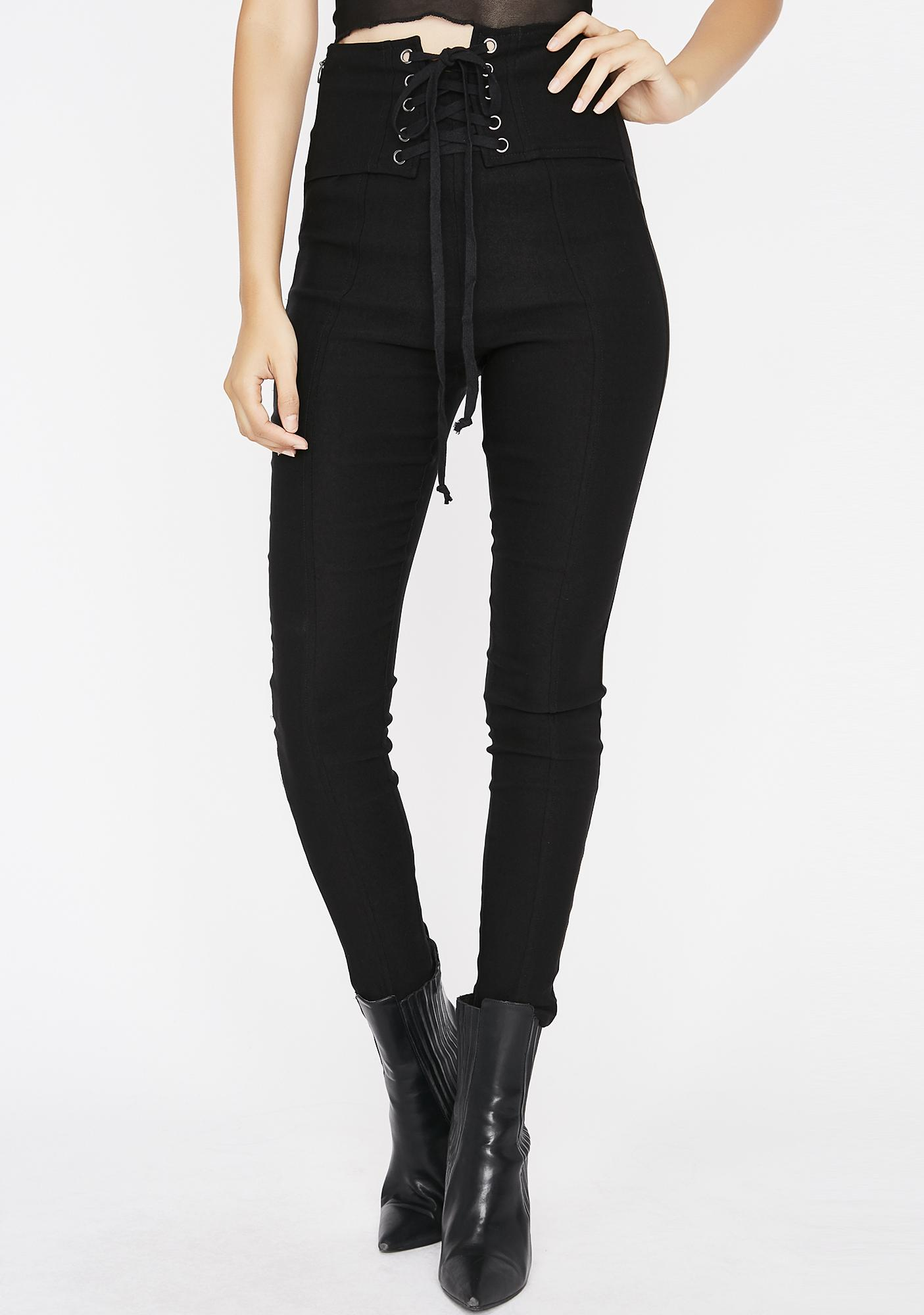 Pot Stirrer Lace-Up Leggings