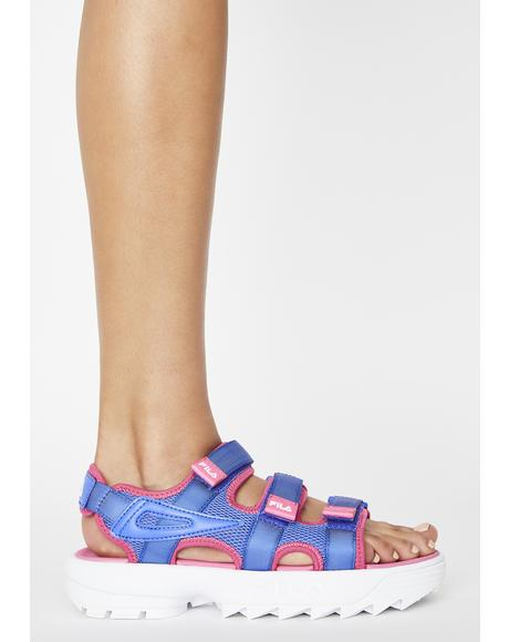 Amparo Blue Disruptor Platform Sandals
