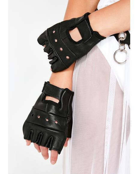 Hit The Gas Biker Gloves