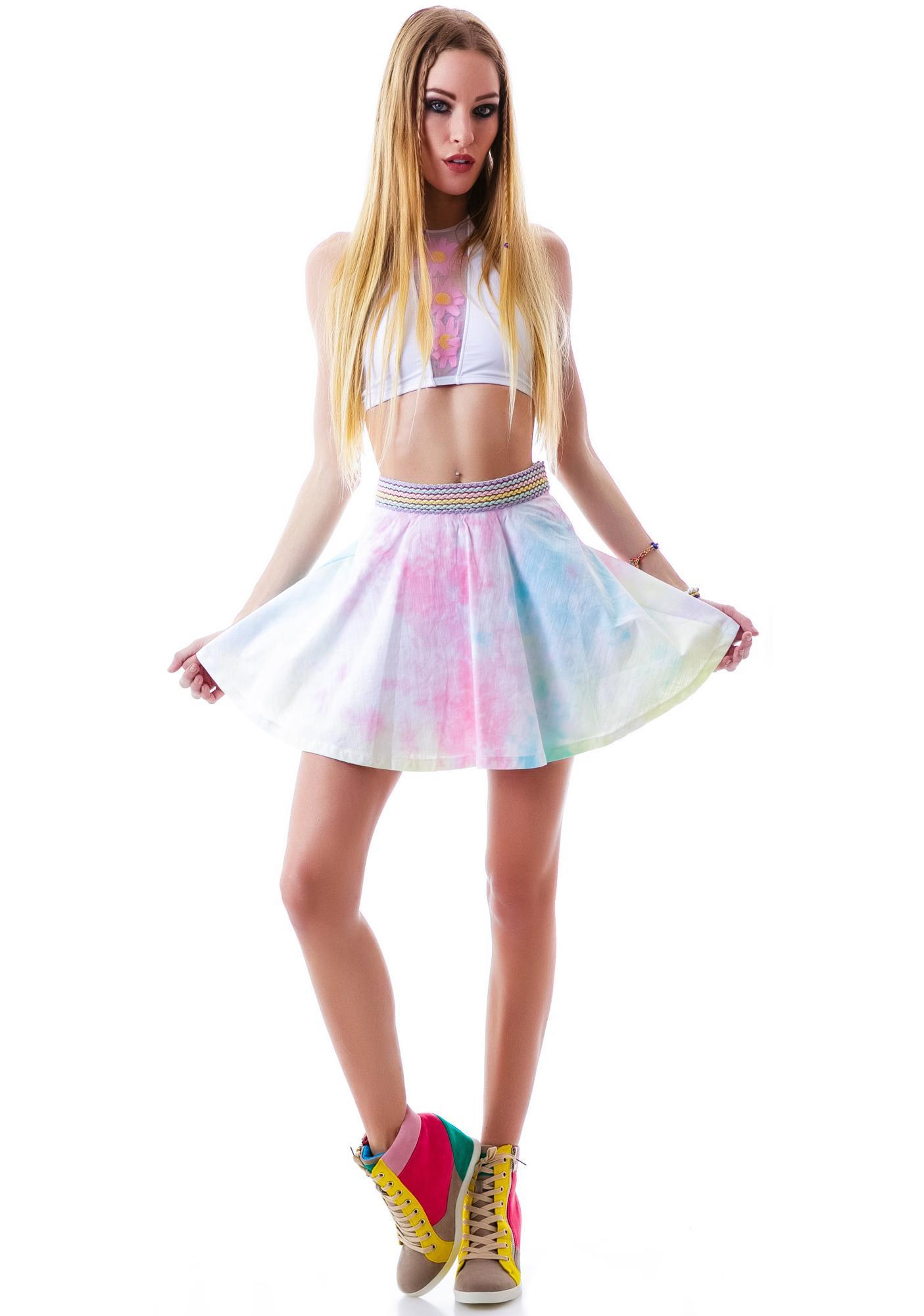 f57746f8b3c7f5 Rainbow Sherbet Skater Skirt | Dolls Kill