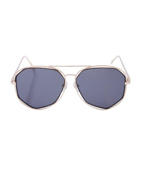 Diamond Bar Aviator Sunglasses