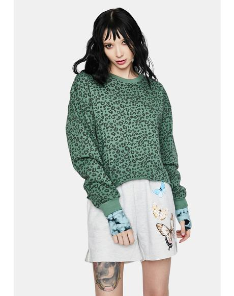 Fern No Cap Animal Print Pullover Top