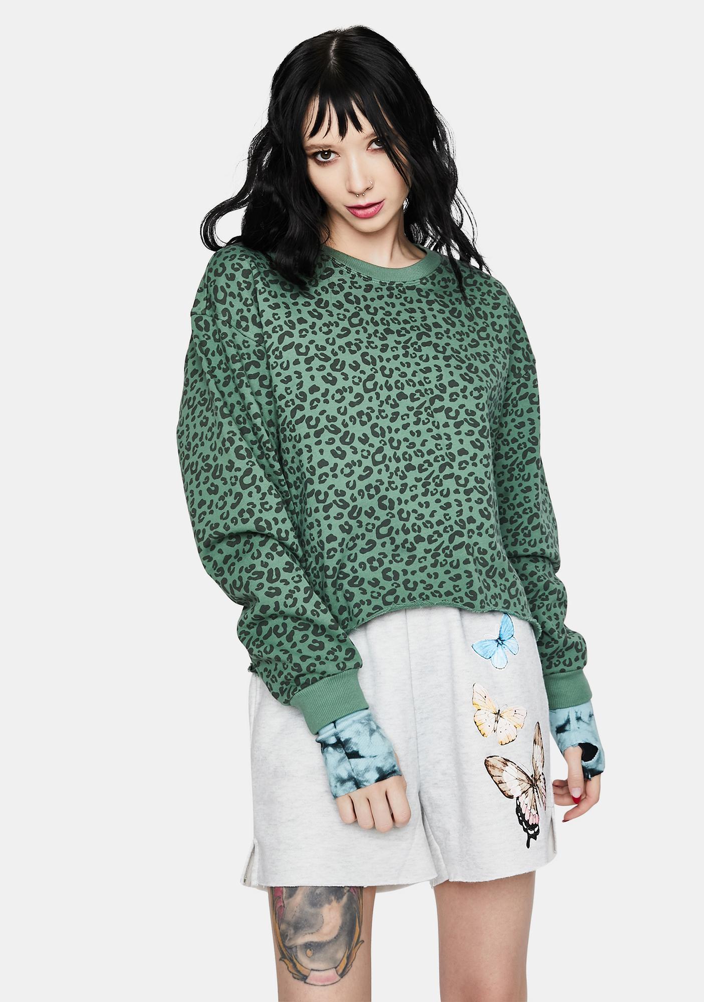 Blank NYC Fern No Cap Animal Print Pullover Top