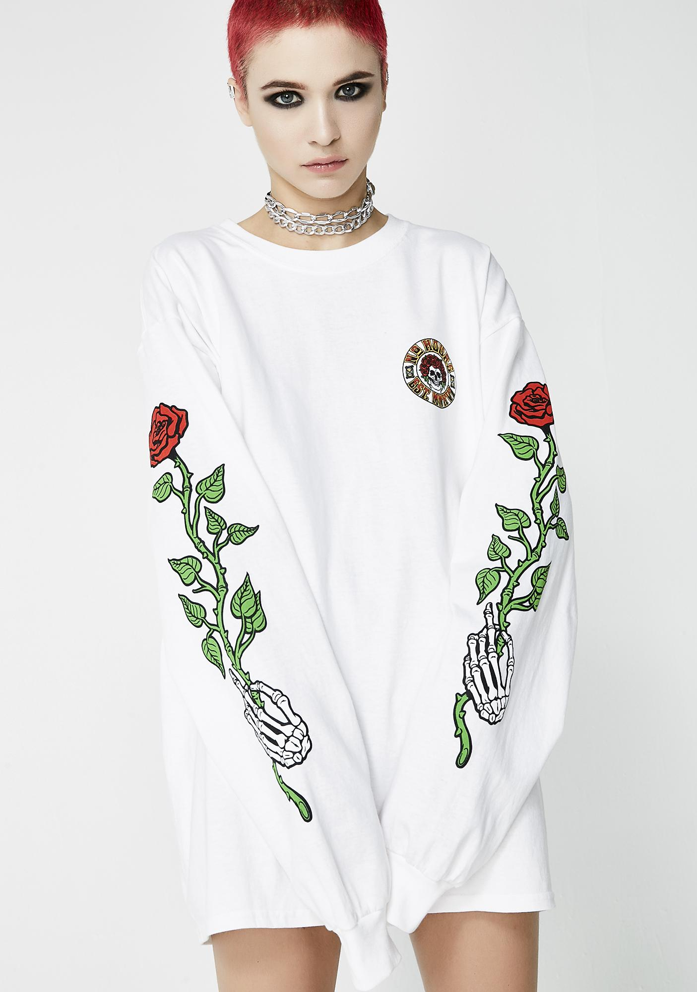 No Hours Roses Long Sleeve Tee