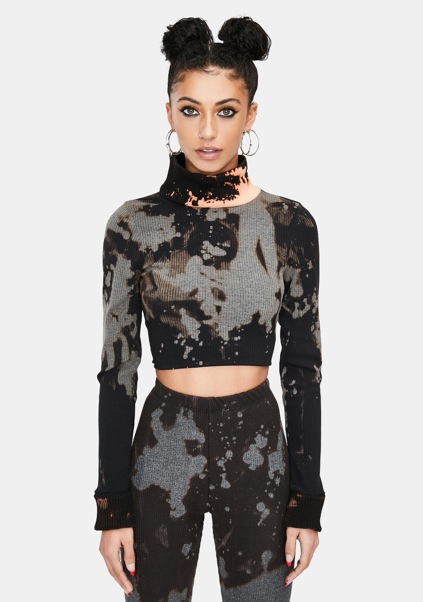 Ivy Berlin Burned Up Tie Dye Crop Top