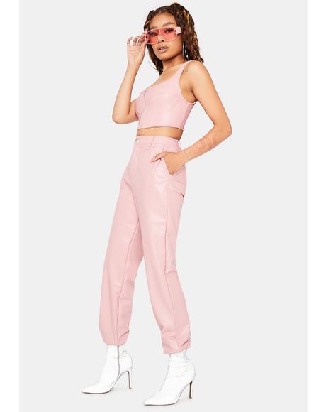 Not Shy Vegan Leather Pant Set