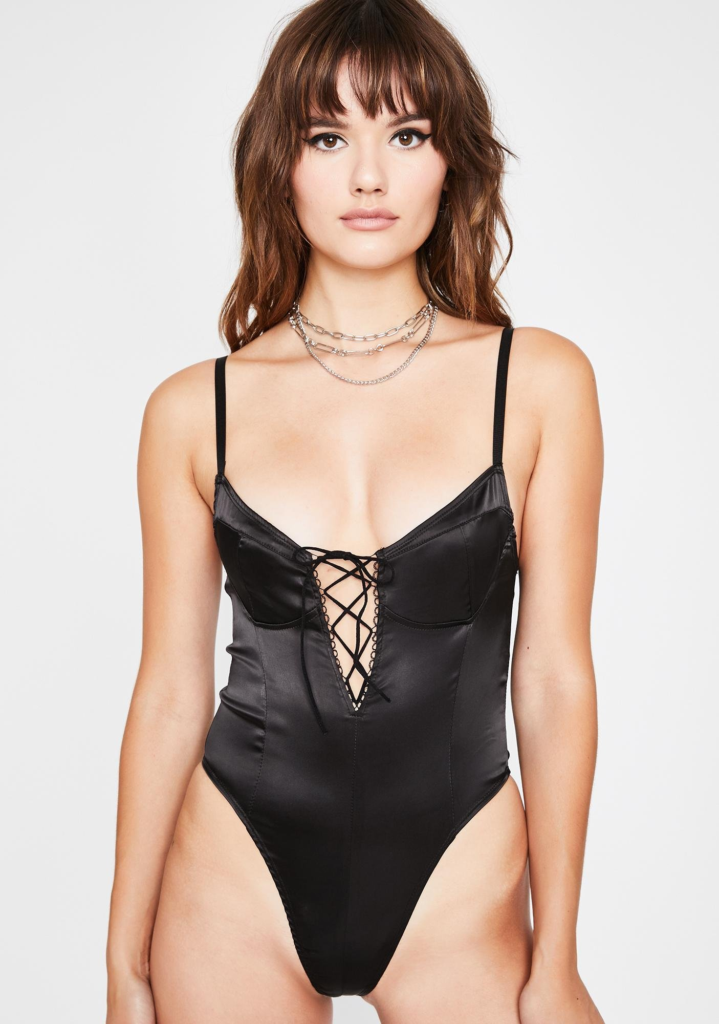 Sinful In Ur Dreams Satin Bodysuit