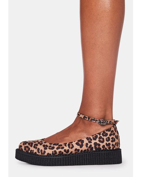 Leopard Pointed Ballet Creepers