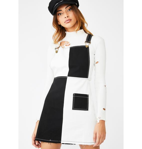 Valfré Checkmate Pinafore Dress