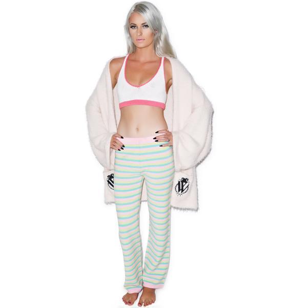Knitty Kitty Bubblegum Striped Pants
