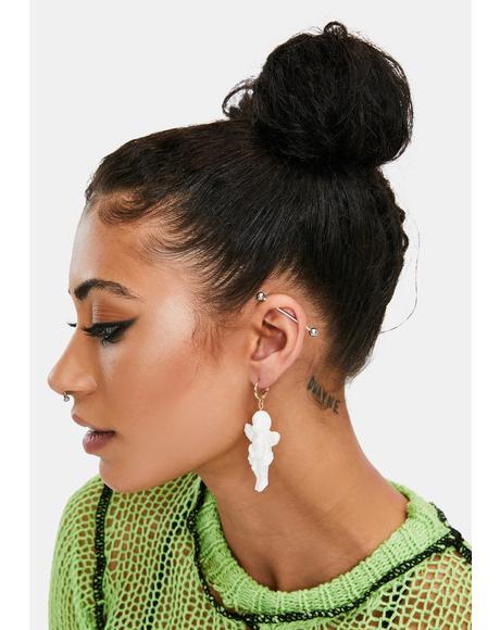 Cherub In The Club Drop Earrings