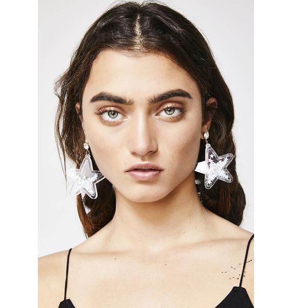 Catch A Star Glitter Earrings