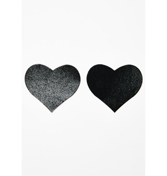 Pastease Black Heart Pasties