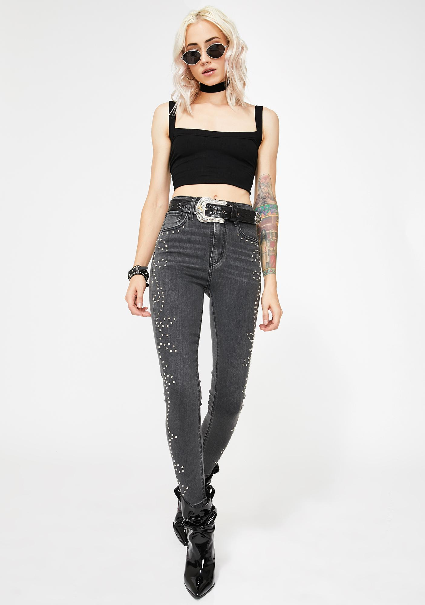 Levis Roped In Mile High Ankle Skinny Jeans