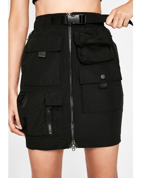 Up for Anything Cargo Mini Skirt
