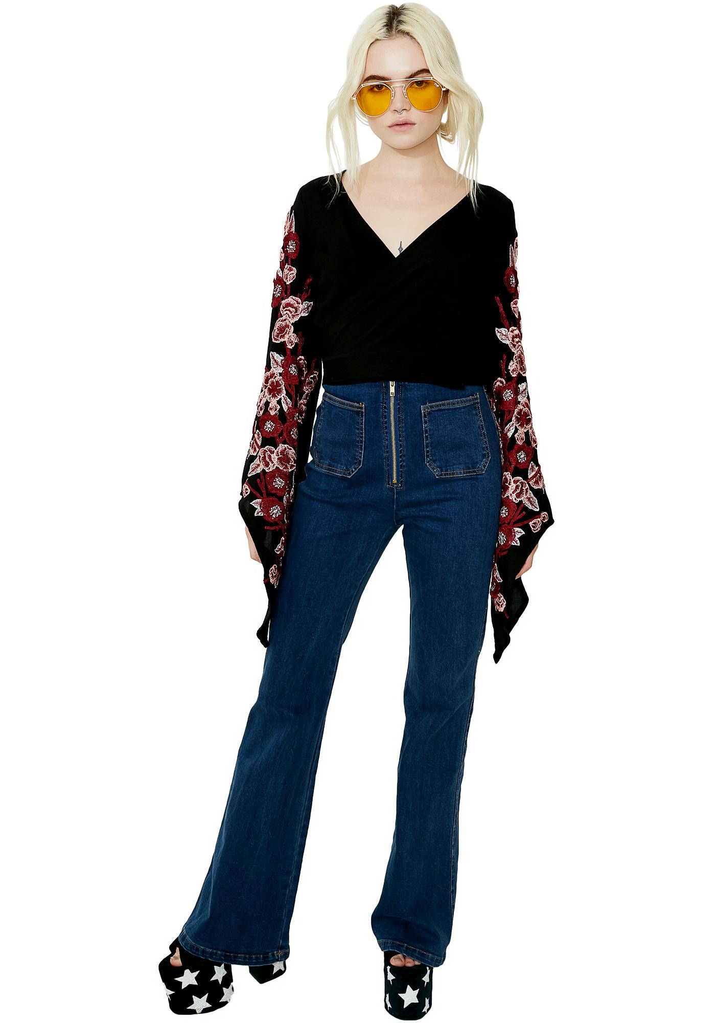 Miss Magnolia Embroidered Top