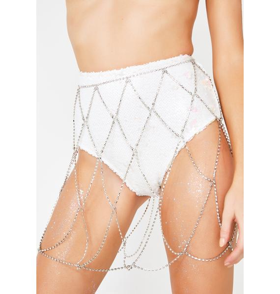 Extravagant4Eva Rhinestone Chain Skirt