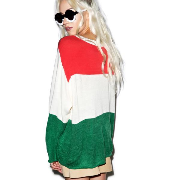 Wildfox Couture Kiss Me I'm Italian Vineyard Sweater