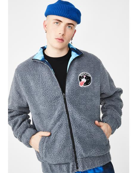 Pill Reversible Sherpa Varsity Jacket