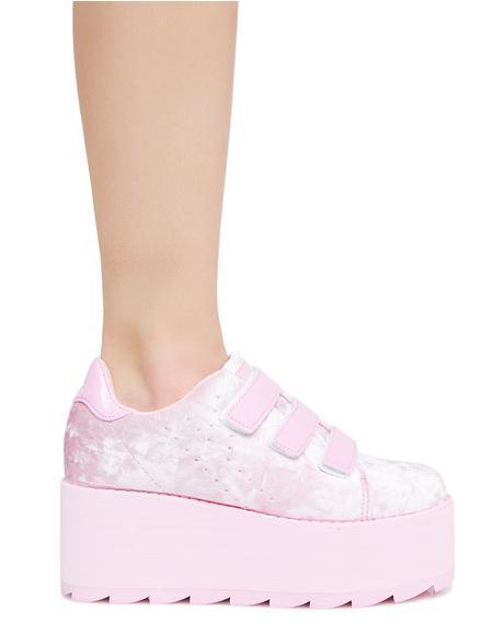 Candy Lala Velvet Platform Sneakers