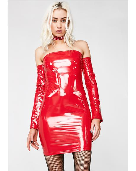 Spicy Haute Thang Vinyl Dress