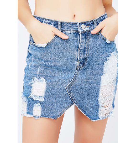See You Never Denim Skirt