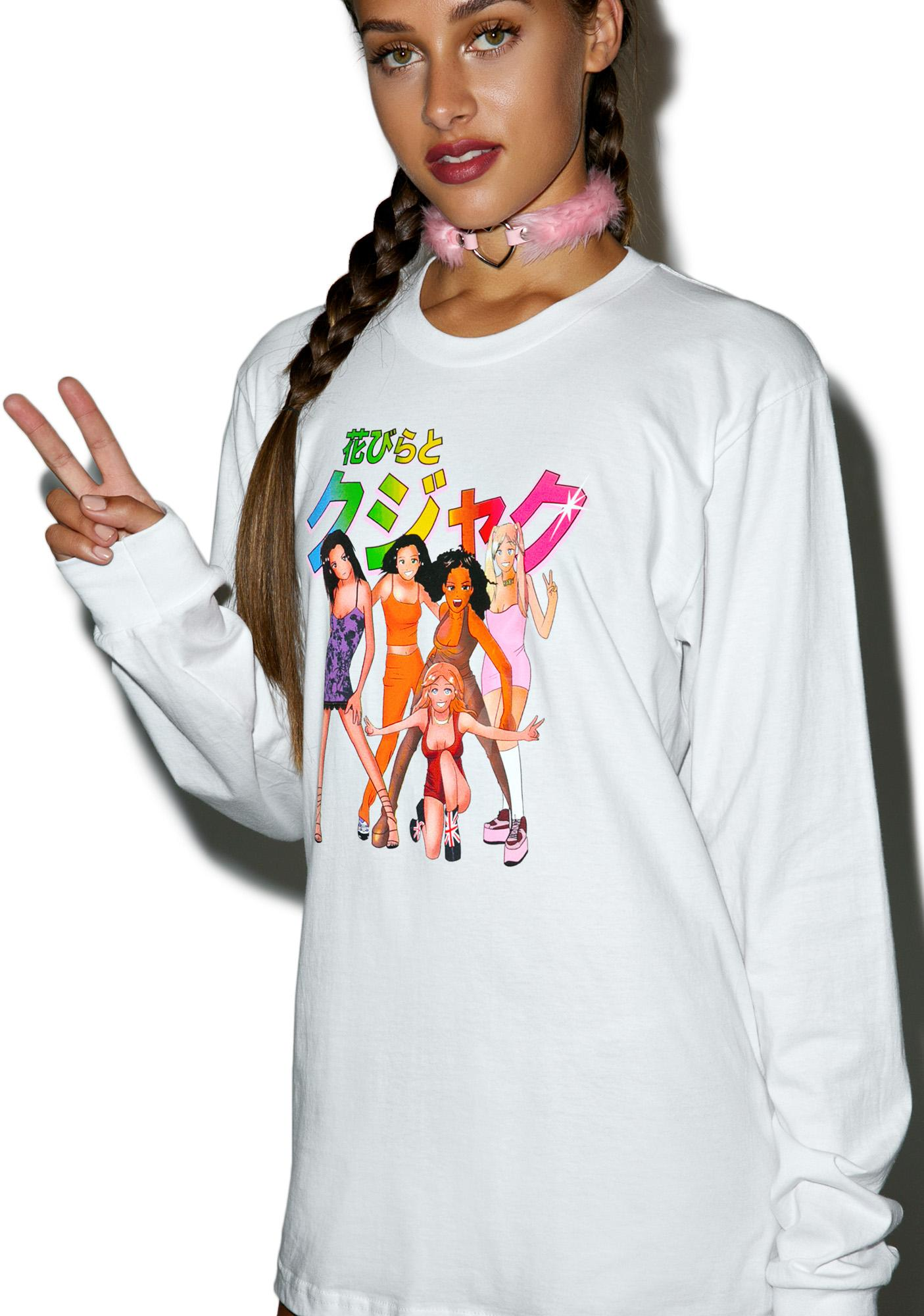 Petals and Peacocks Girlz Long Sleeve Shirt