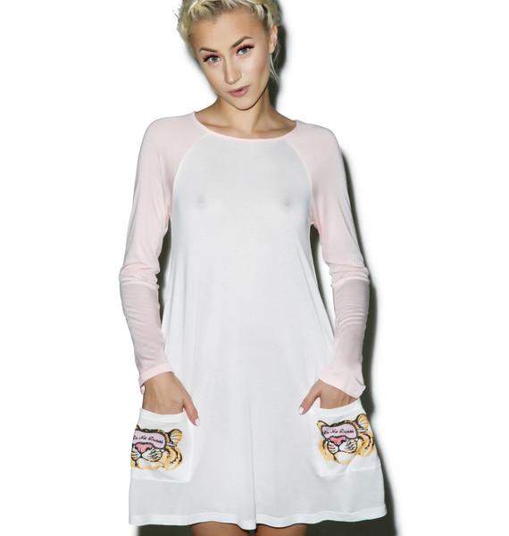 Mink Pink Do Not Disturb Long Sleeve T-Shirt Nightie