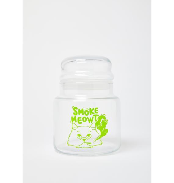 Femfetti Smoke Meowt 16 Oz Glass Canister