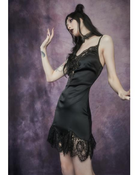 Mischief Du Monde Satin Lace Mini Dress
