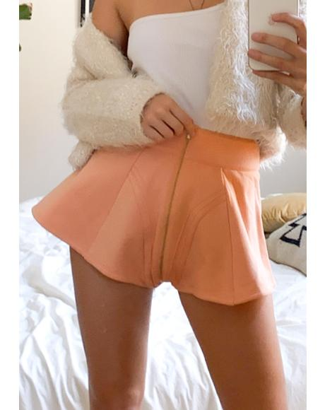 Rose Gold Fleece High Waist Shorts