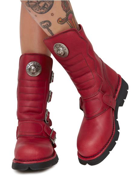 Tanked Buckle Boots