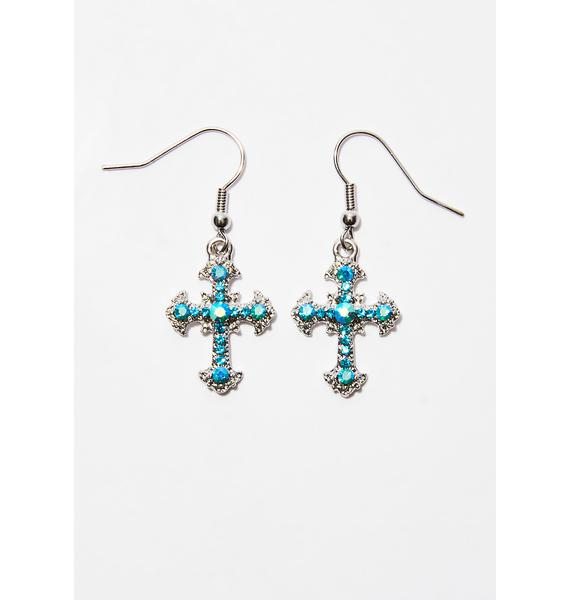 Oh So Holy Cross Earrings