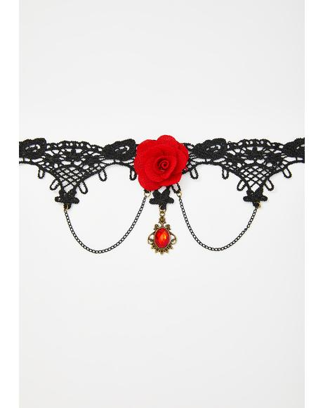 Budding Evil Rose Choker