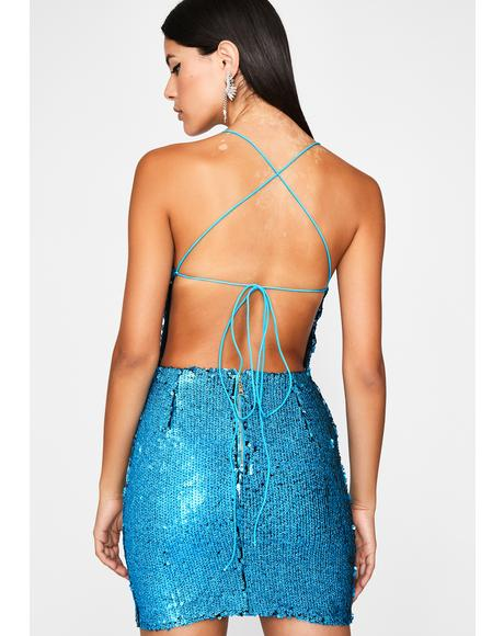 Chill Buy Me A Shot Sequin Dress