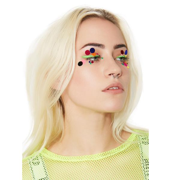 Disco Dust London Polka Dot Face Stickers