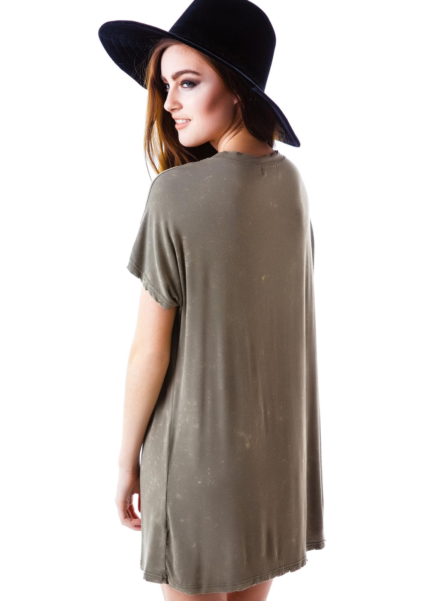 Commando Distressed V-Neck Tee
