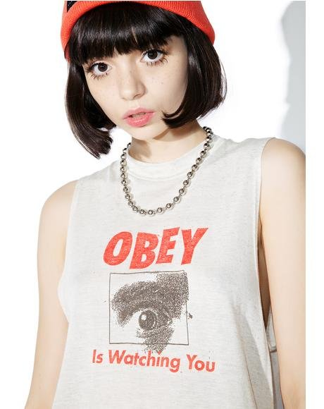 Watching You Logo Tank