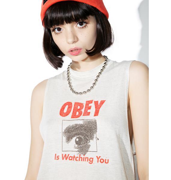 Obey Watching You Logo Tank