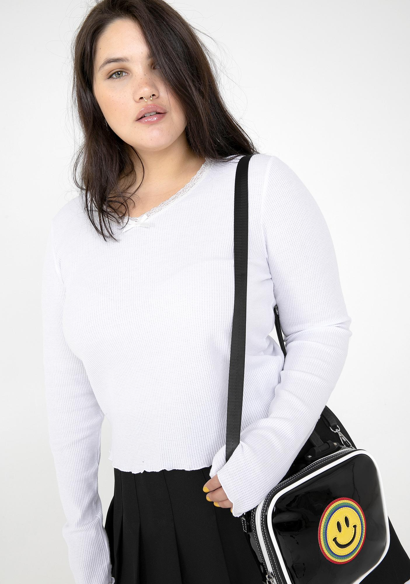 dELiA*s by Dolls Kill Chill You're So Yesterday Ribbed Top