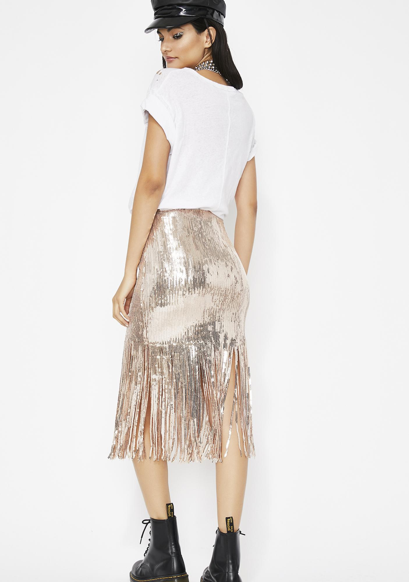 Reflect On This Fringe Skirt