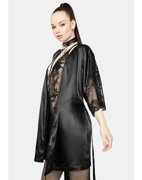 Purely Grace Satin Robe