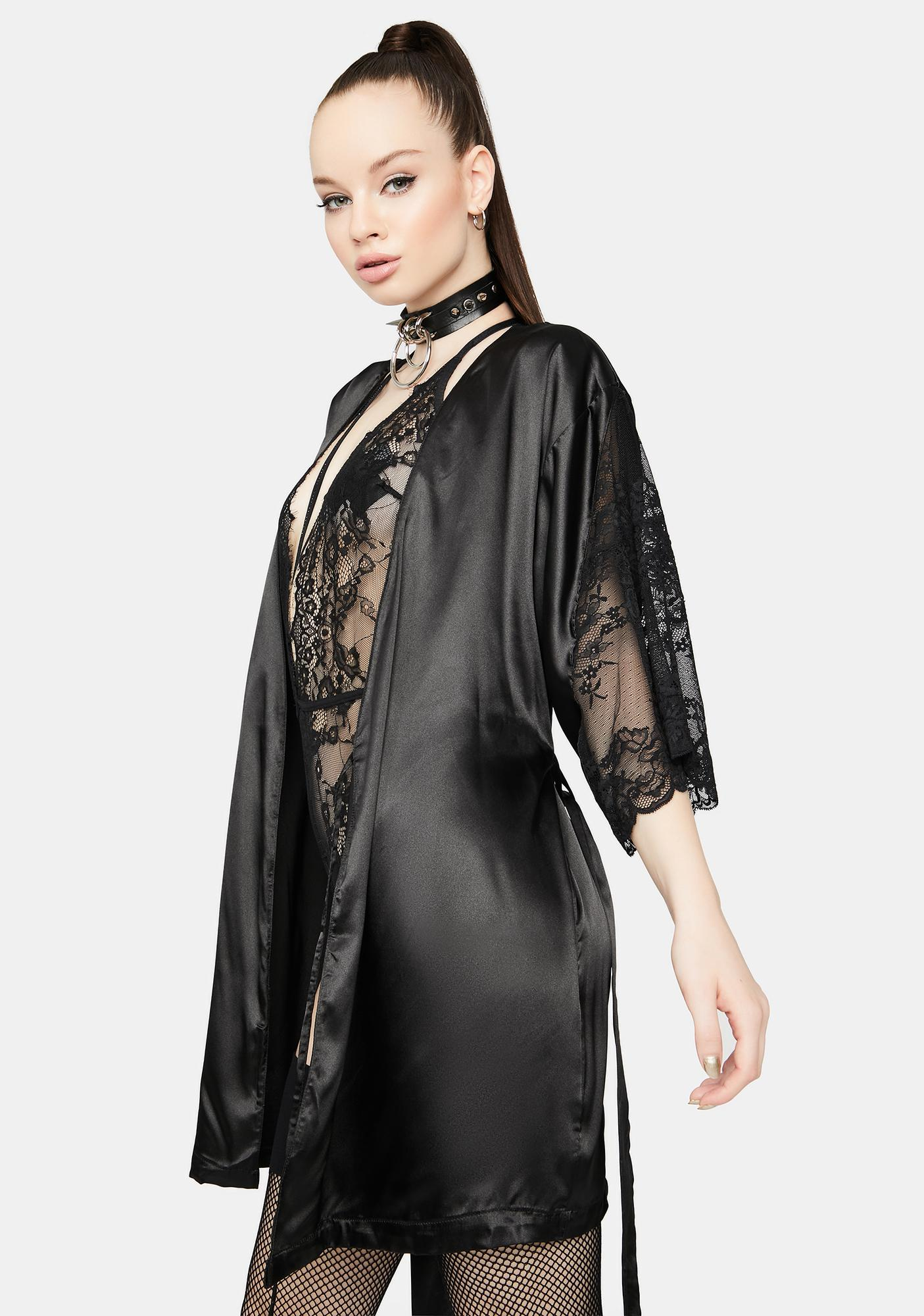 Purely Grace Satin Robe