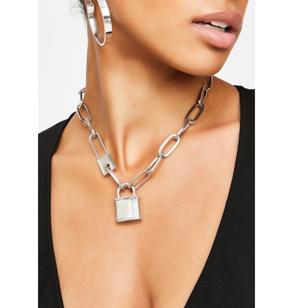 Locked Away Chain Choker
