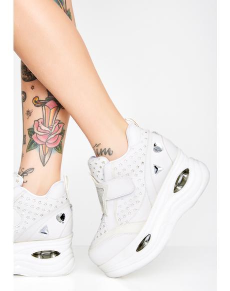 Lenticular Reflective Platform Sneakers