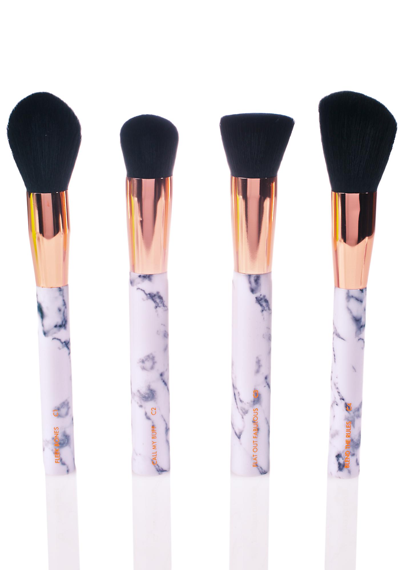 Skinnydip Marble Shut The Contour Brush Set