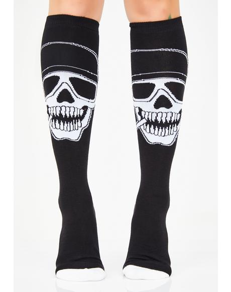 Chill To The Bone Knee High Socks