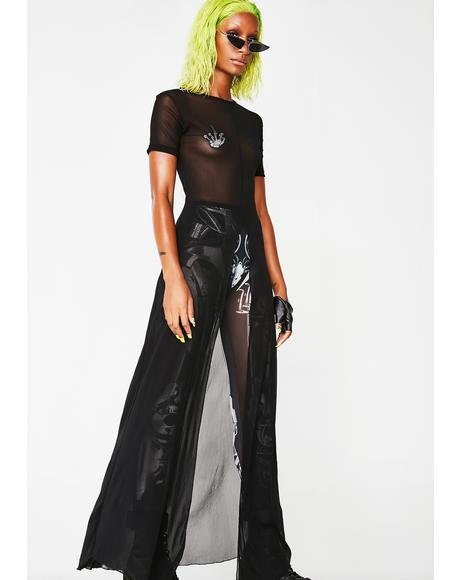Techno Goth Sheer Dress